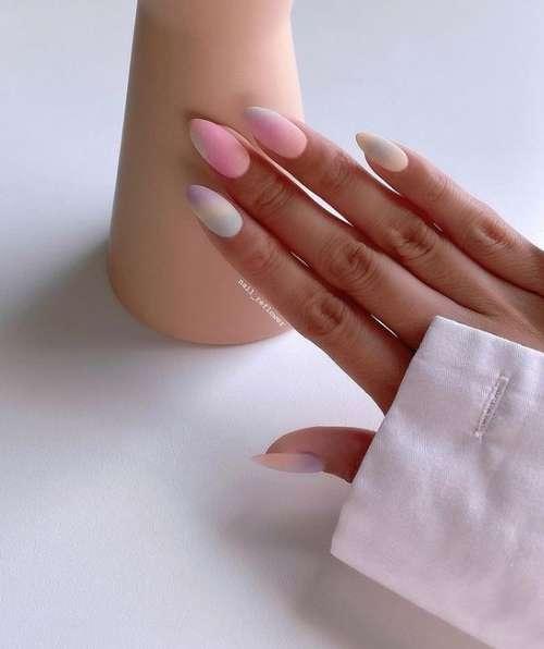 Нежный маникюр на короткие ногти тренды фото