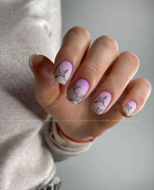 Сиреневый на короткие ногти