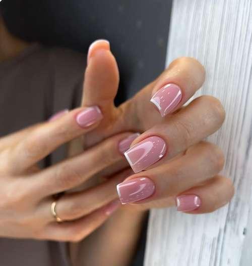 подборка идей цветного френча на короткие ногти