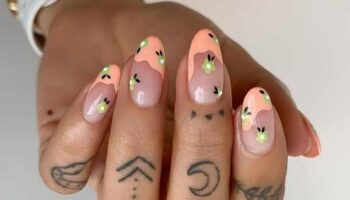 Летний френч фото дизайн ногтей