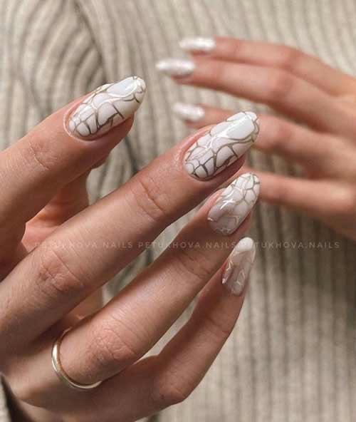 Стемпинг-разводы ногти