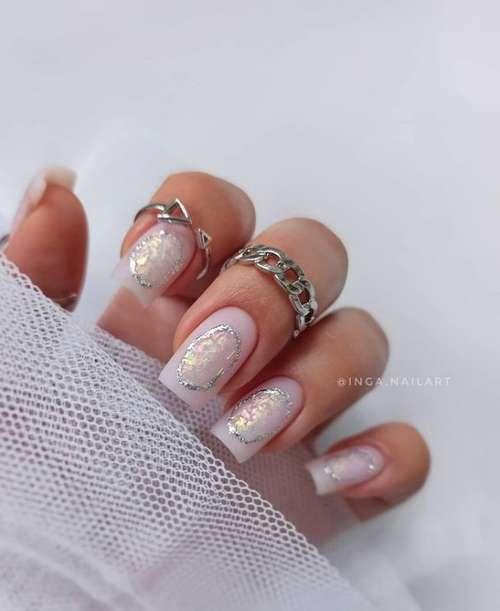 Нежные разводы ногти