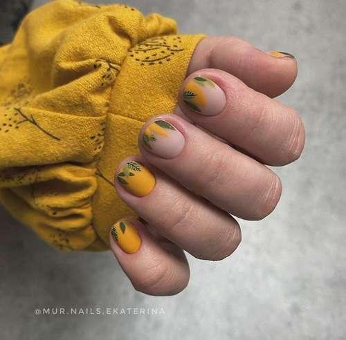 Короткие ногти рисунок тренды