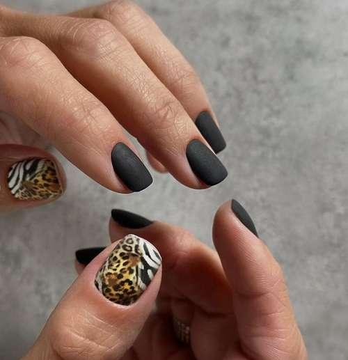 Принты на коротких ногтях