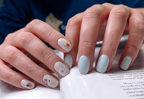 Гранат рисунок ногти