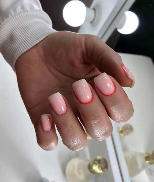 Молочный градиент на ногтях: трендовый маникюр