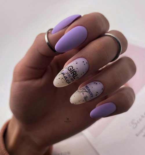 Весенний молочный градиент на ногтях