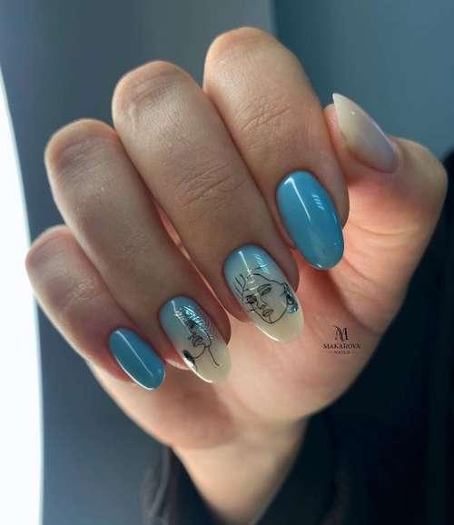Молочный градиент на ногтях: трендовый маникюр 2021, фото