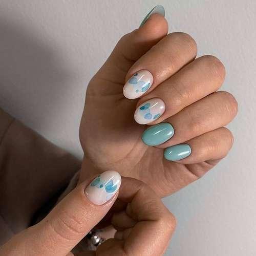 Дизайн овальные ногти