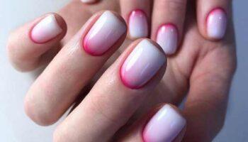 Молочный маникюр на короткие ногти фото