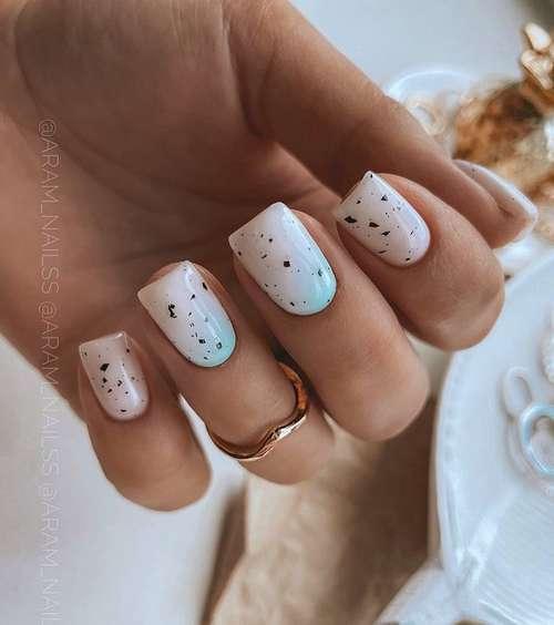 Молочный градиент ногти
