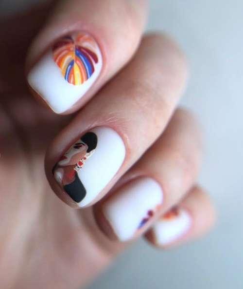 Молочный маникюр на короткие ногти 2021: фото, модный дизайн
