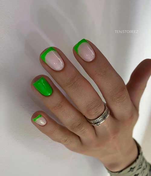 Полупрозрачный френч зеленый