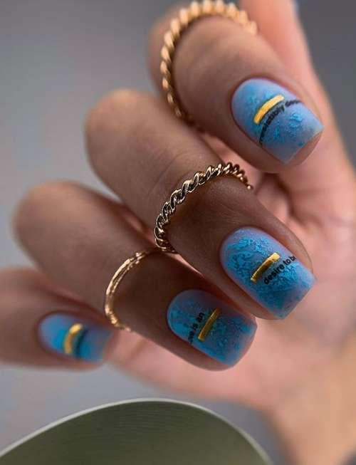Короткие ногти полупрозрачный маникюр