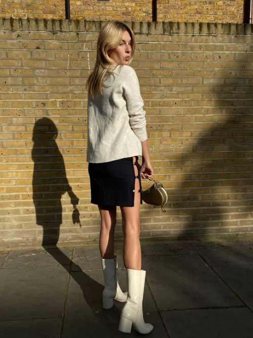 Модная юбка с глубоким разрезом