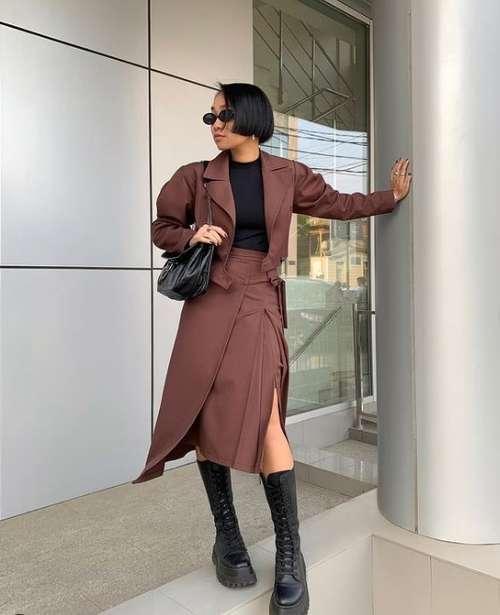 Асимметричные юбки с разрезом