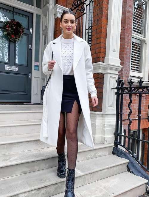 Ультрамодные юбки с разрезом: фото с чем носить, тренды 2021