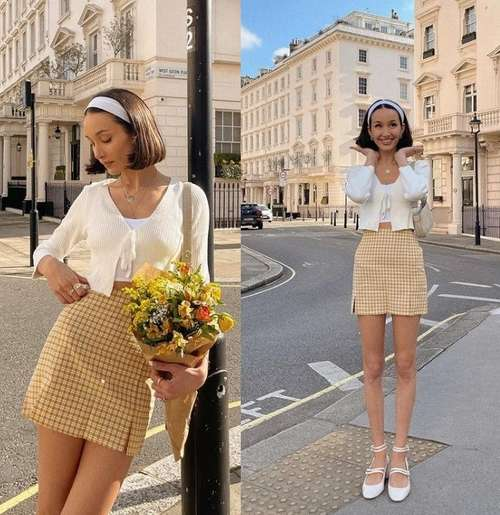 Короткие юбки с двумя разрезами