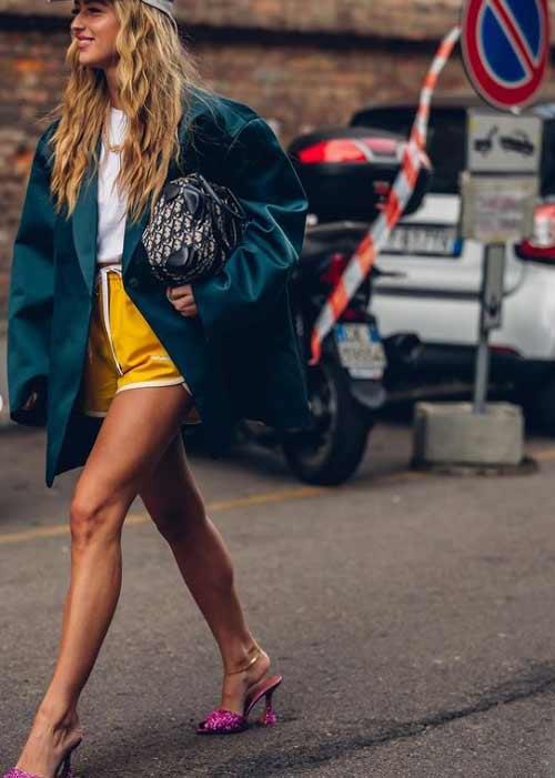 Короткие шорты с чем носить