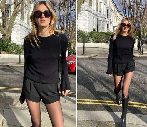 Черные шорты с чем носить
