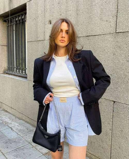 Модные шорты образы