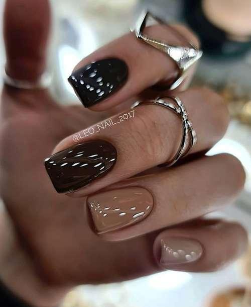 Бежевые ногти маникюр