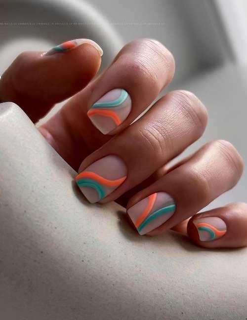 Бежевые ногти дизайн