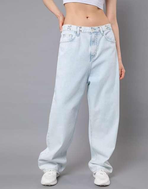 Широкие джинсы низкая талия