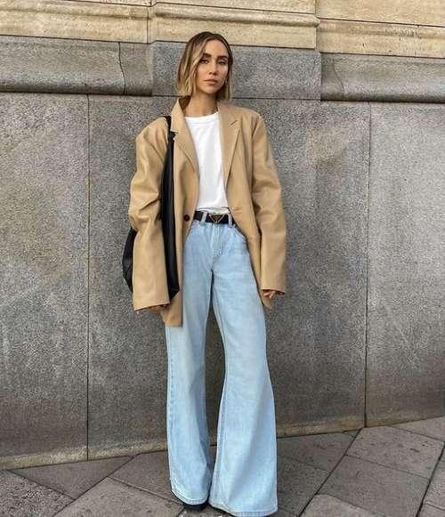 Широкие джинсы в пол