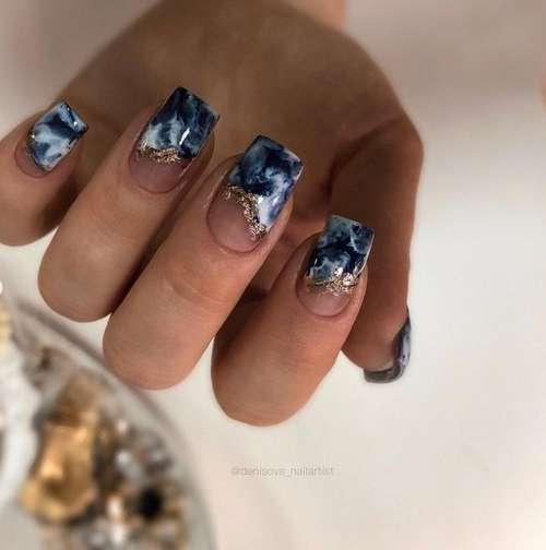 Текстуры в морском стиле ногти