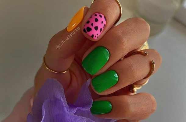 Яркий дизайн ногтей фото новинки