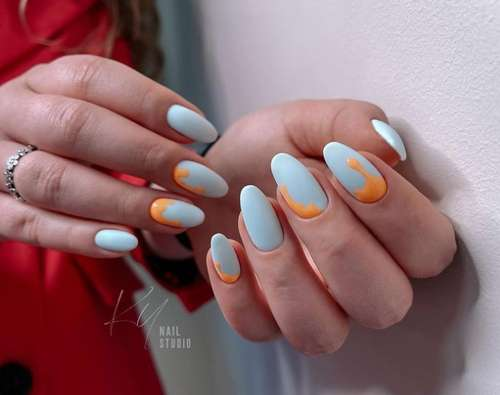 Дизайн ногтей капля