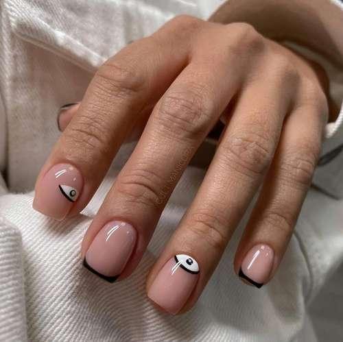 Лунный дизайн ногти