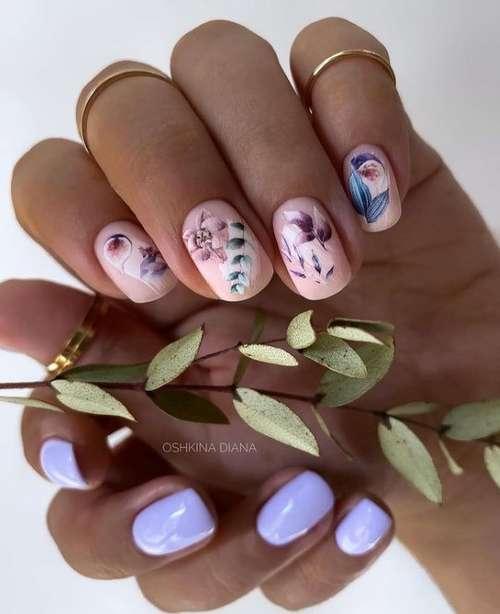 Дизайн разные руки с листьями