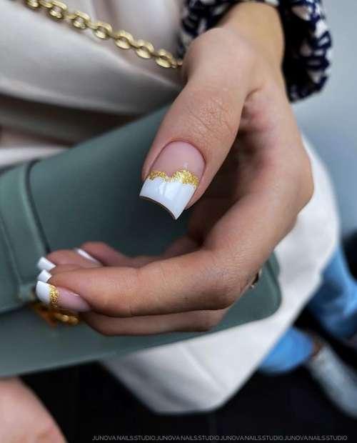 Белый френч с золотом