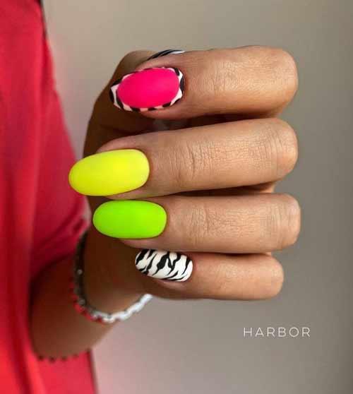 Разный дизайн всех ногтей