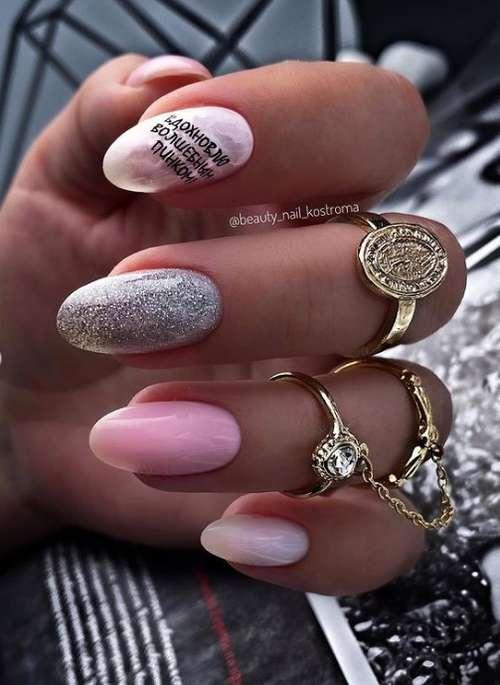 Разные ногти с декором