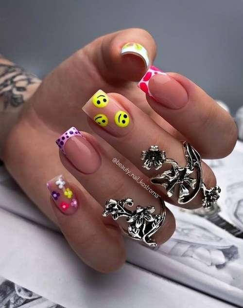 Дизайн ногти разные рисунки