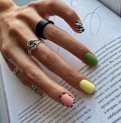 Разные ногти цвет и дизайн