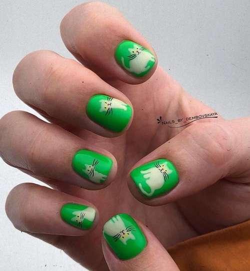 Разные рисунки на ногтях