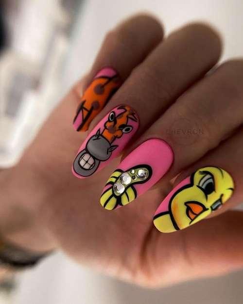 Молодежные ногти разные дизайны ногтей