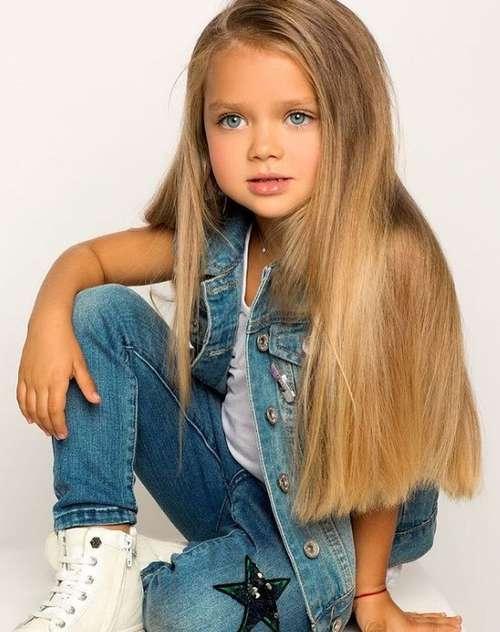 Стрижка девочки длинные волосы