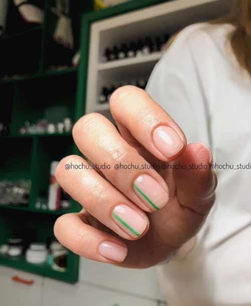 Минимализм ногти маникюр