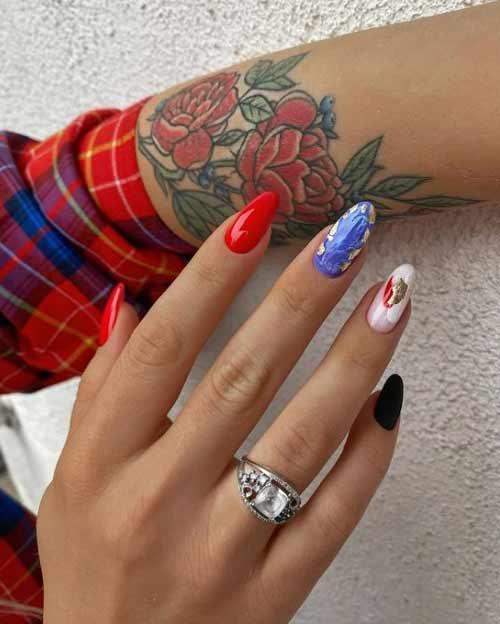 Разный дизайн ногтей