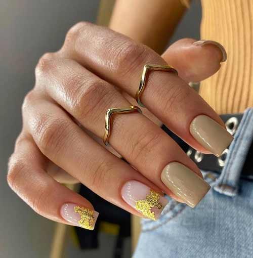 Квадратные короткие ногти