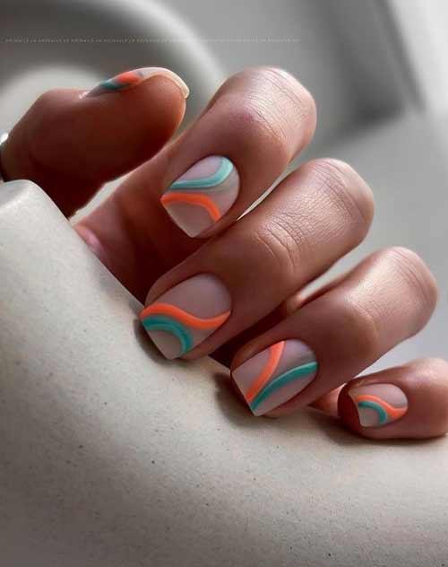 Квадратные ногти дизайн