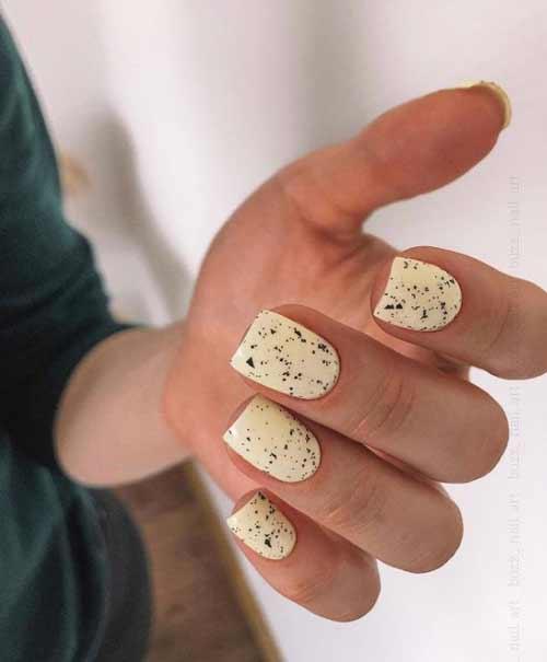 Новинки маникюра на короткие квадратные ногти