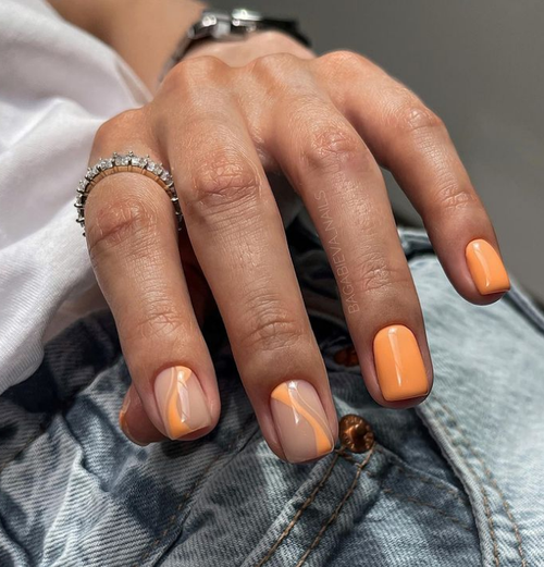 Маникюр на короткие квадратные ногти: модные новинки 2021-2022