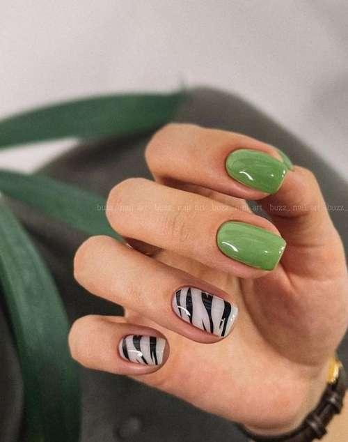 Животный принт рисунки ногти