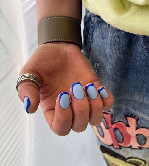Сине-голубой френч